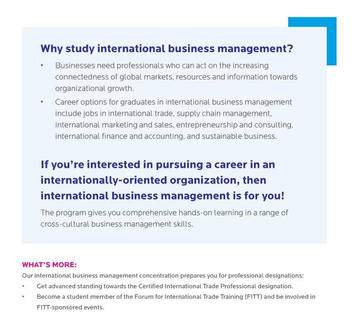 International Business Management Concentration